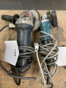 2 x Corded Angle Grinders