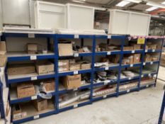 5 Bays of Shelving w/ Furniture Fixings & Fittings Stock | As Pictured