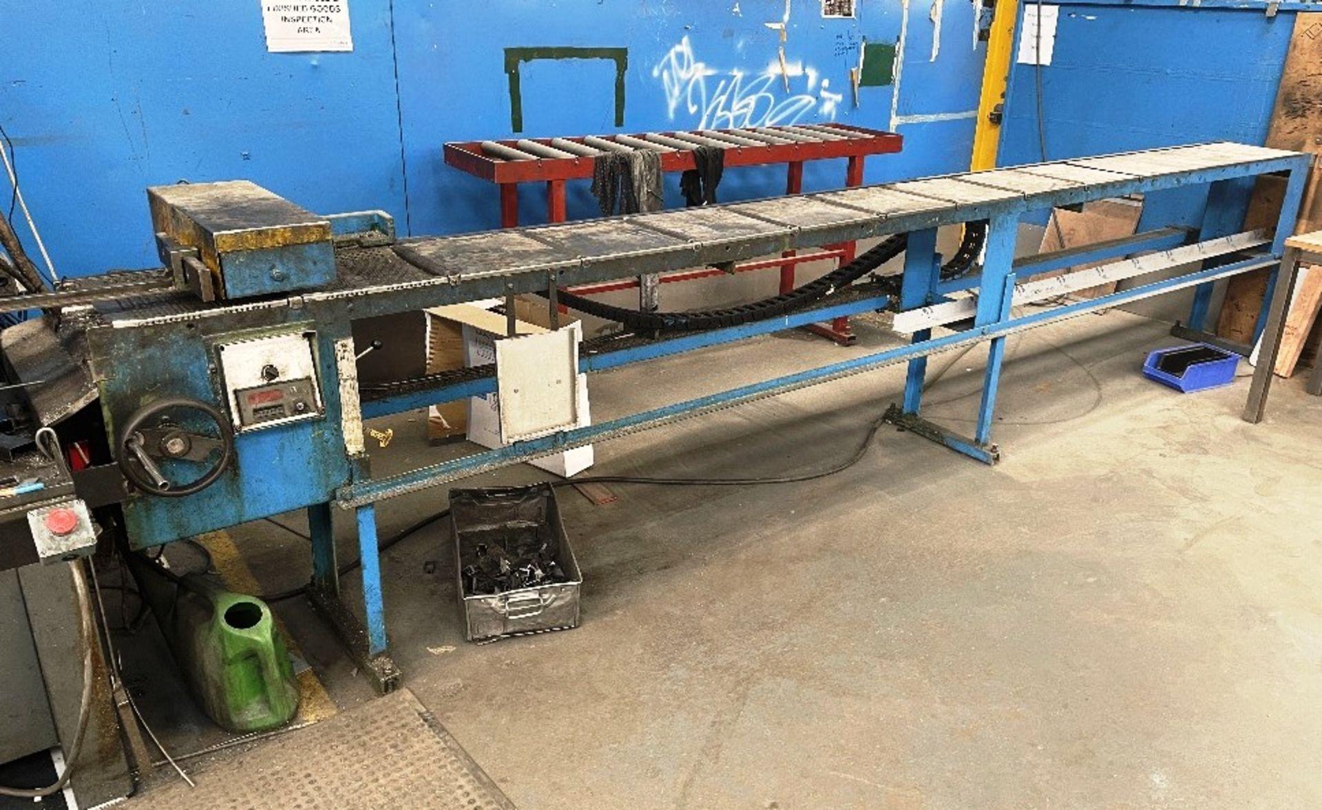 Pedrazzoli Brown SC 300 Horizontal Bandsaw w/ 4m Powered Conveyor - Image 8 of 12