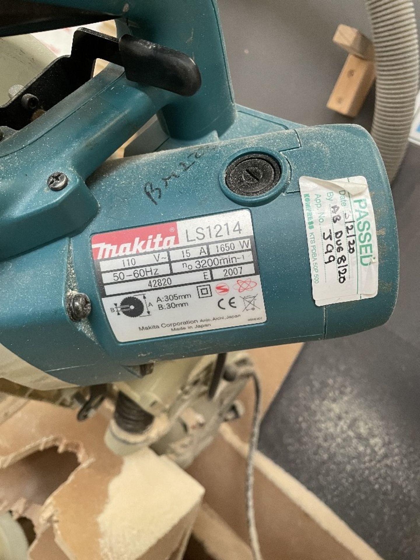 Makita LS1214 Corded 305mm Slide Compound Mitre Saw   110v - Image 2 of 6