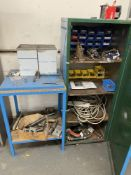 Metal Cabinet, Table, Tooling & Equipment   As Pictured