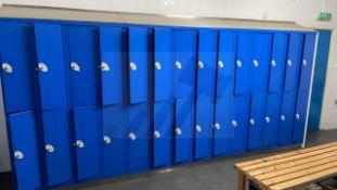 2 x Metal 12 Door Personal Locker Units