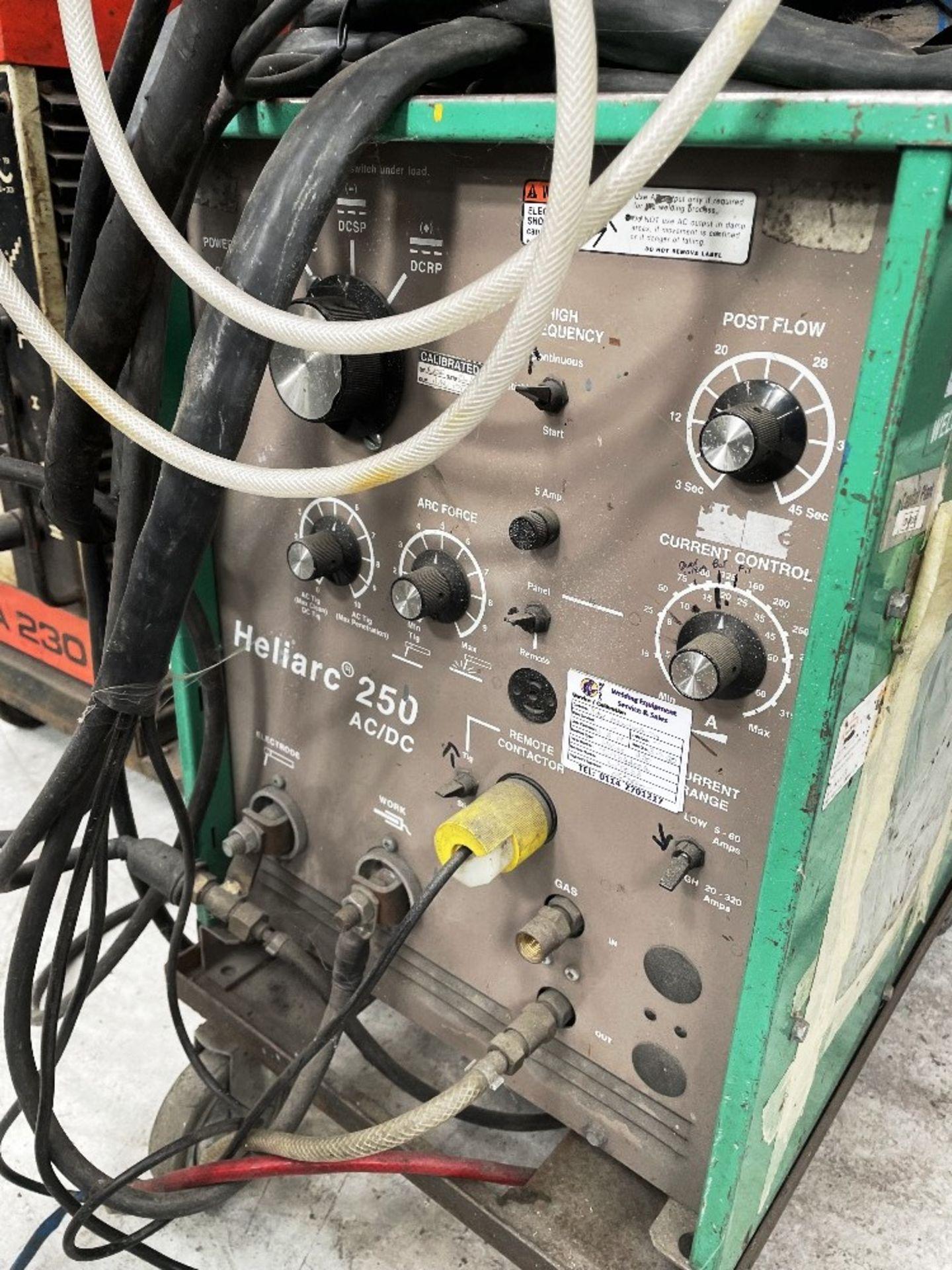 L-Tec Heliarc 250 Tig/Stick Welder w/ Miller Power Source & Water Cooler - Image 3 of 5
