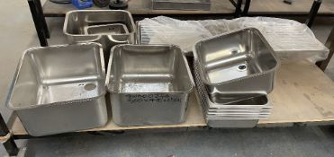Quantity of Various Stainless Steel Sinks / Trays   As Pictured