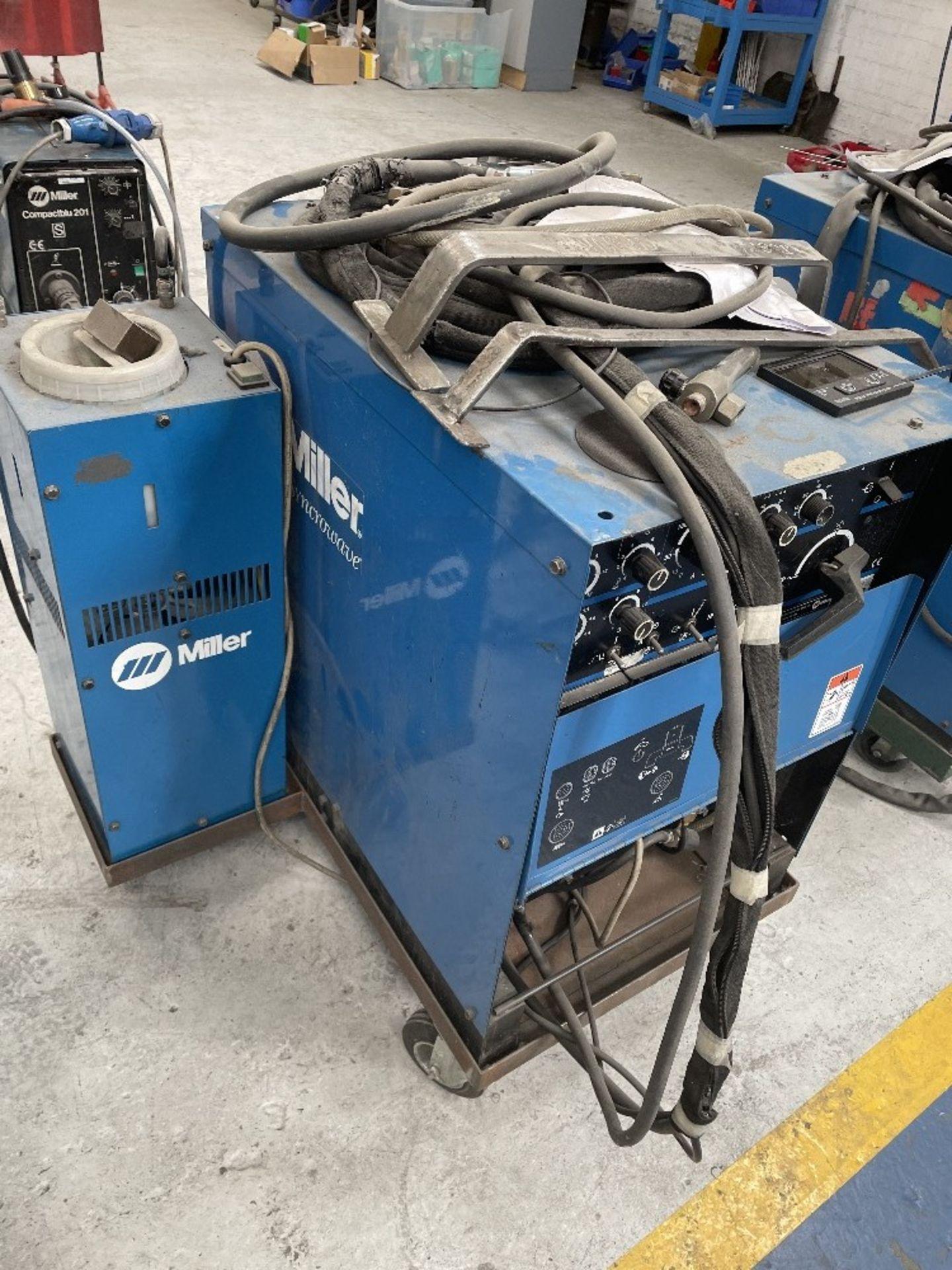 Miller Syncrowave 250 Tig Welder w/ Miller Water Cooler - Image 3 of 4