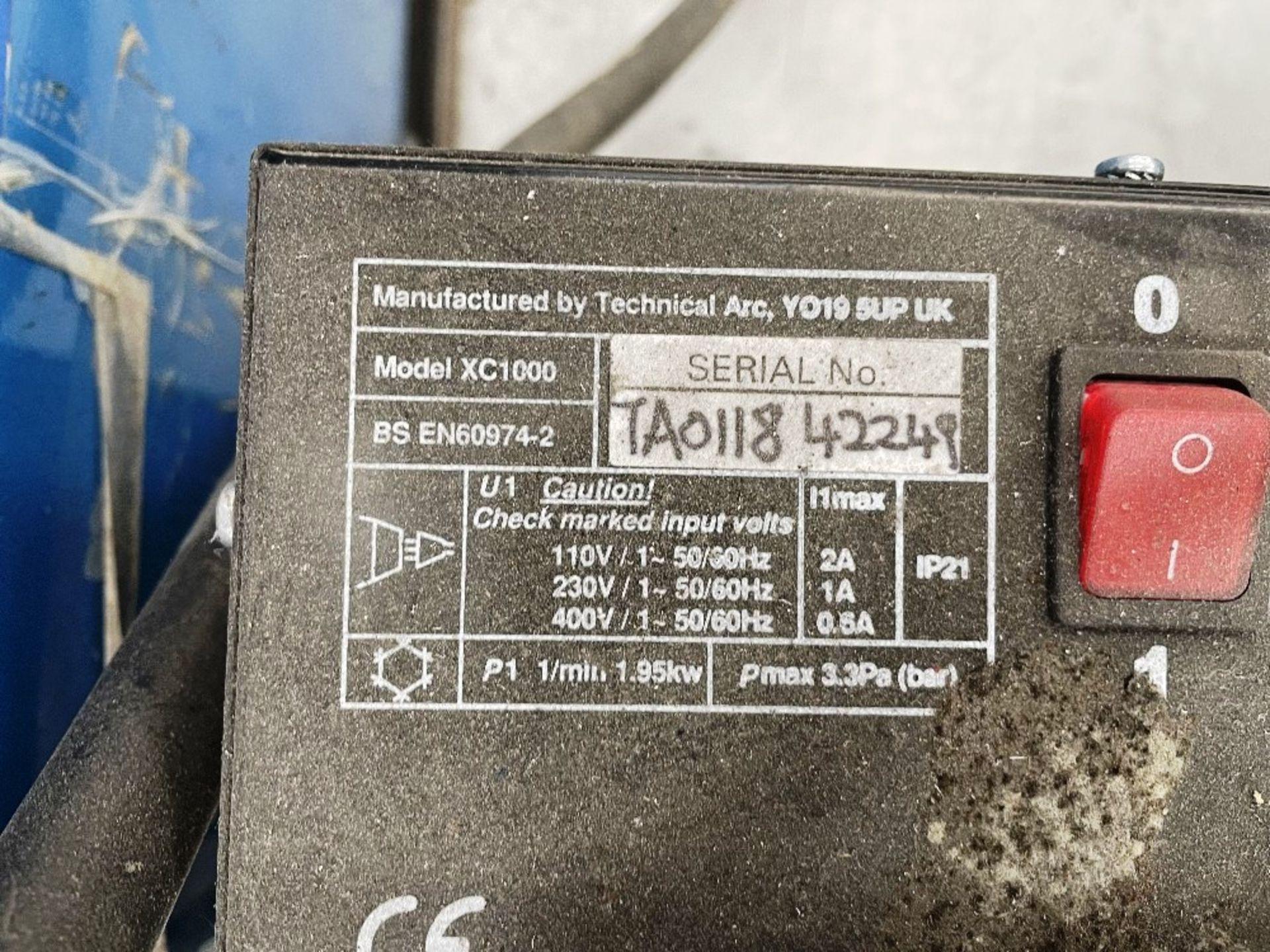 Miller Syncrowave 250 Tig Welder w/ TecArc XC1000 Water Cooler - Image 4 of 6