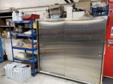 Sliding Door Cupboard & 5 Tier Shelf Unit w/ Sanding & Polishing Stock/Equipment