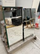 4 x Panes of Bevelled Edge Mirror | Sizes in Description