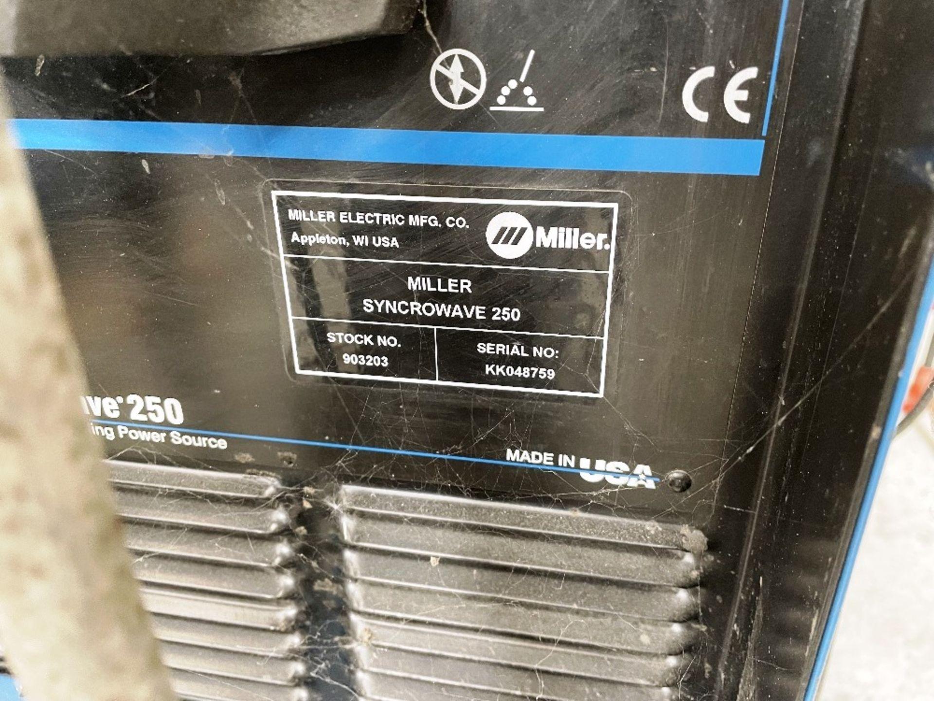 Miller Syncrowave 250 Tig Welder w/ TecArc XC1000 Water Cooler - Image 2 of 5