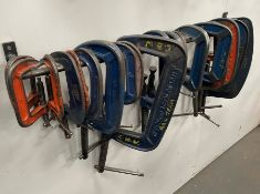 19 x Various Heavy Duty G Clamps