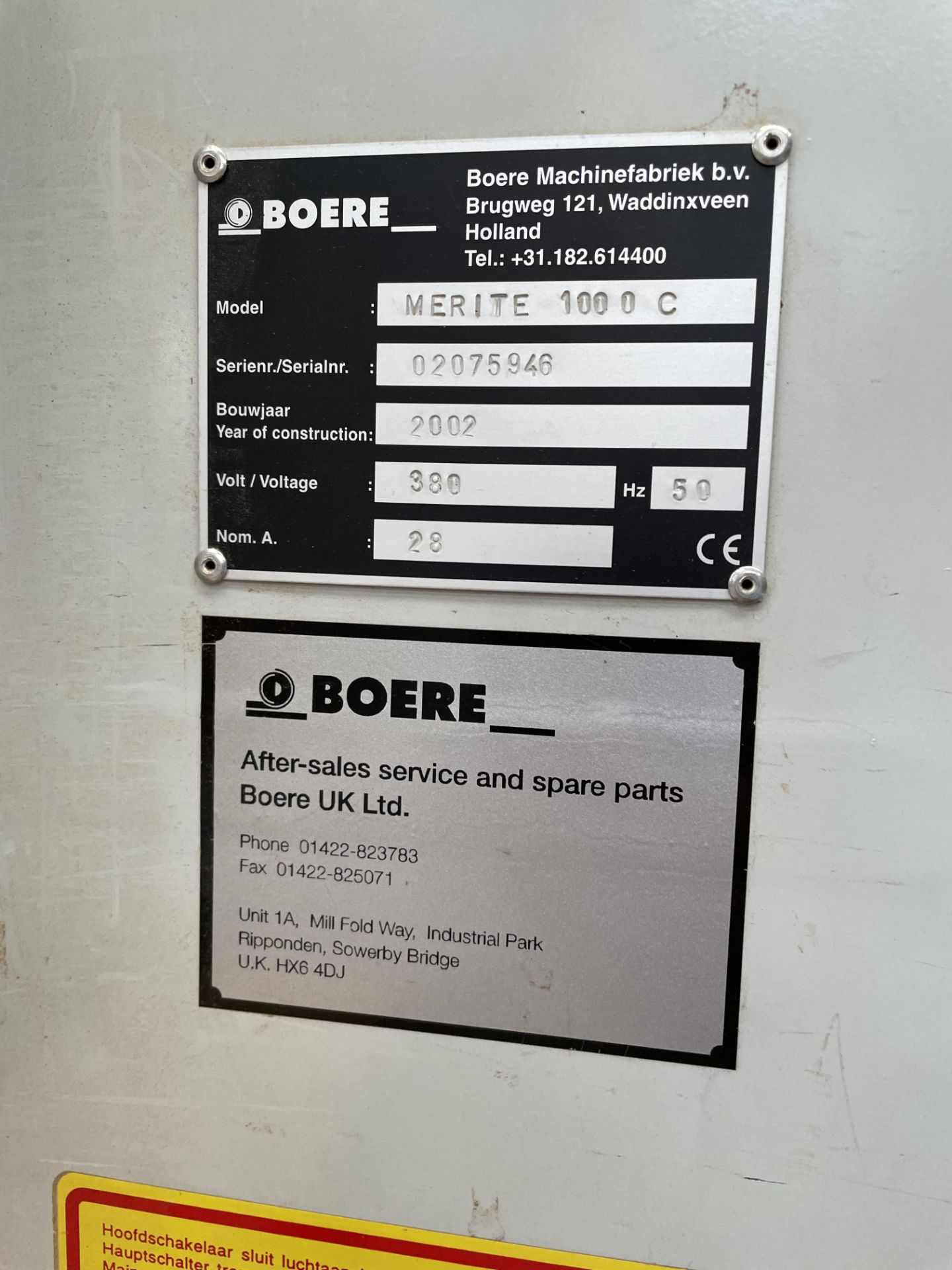Boere Merite 1000 C Wide Belt Sander | YOM: 2002 - Image 2 of 2