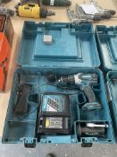 Makita DHP458 Combi Drill w/ Battery Charger in Case