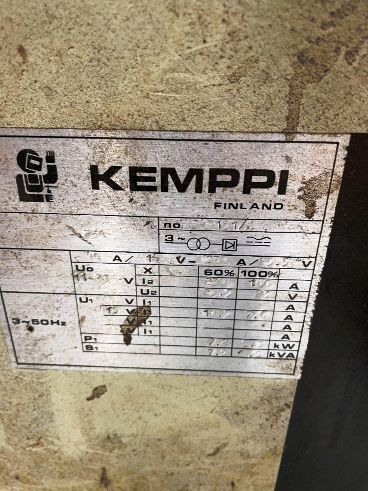 Kemppi RA230 Mig Welder w/ Kemppi Lisa 15 Wire Guide Tube - Image 6 of 6