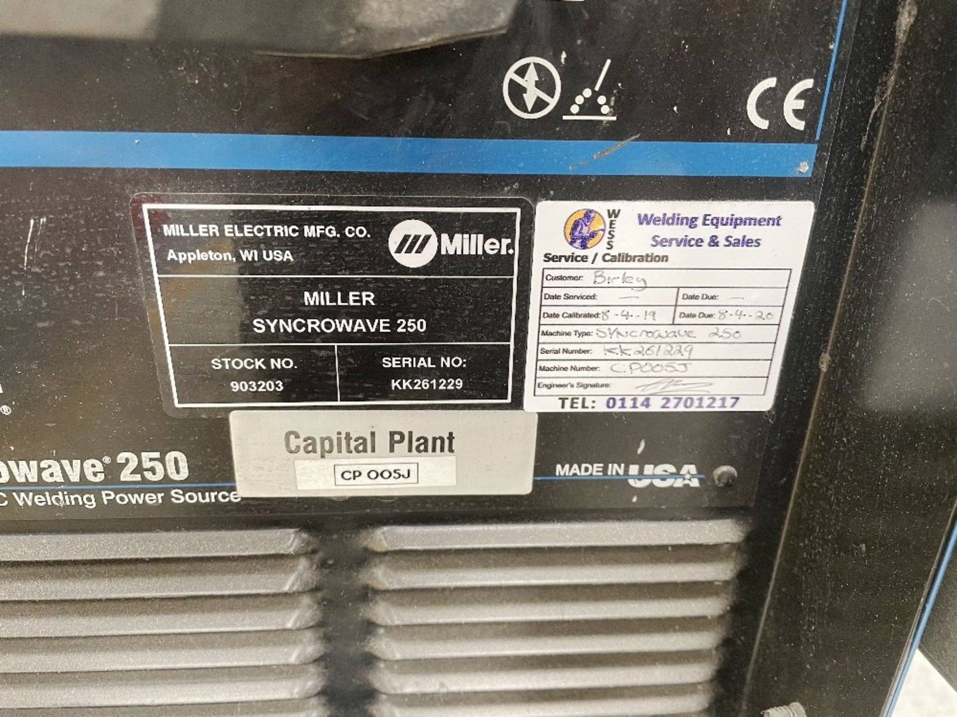 Miller Syncrowave 250 Tig Welder w/ TecArc XC1000 Water Cooler & Foot Pedal - Image 2 of 5