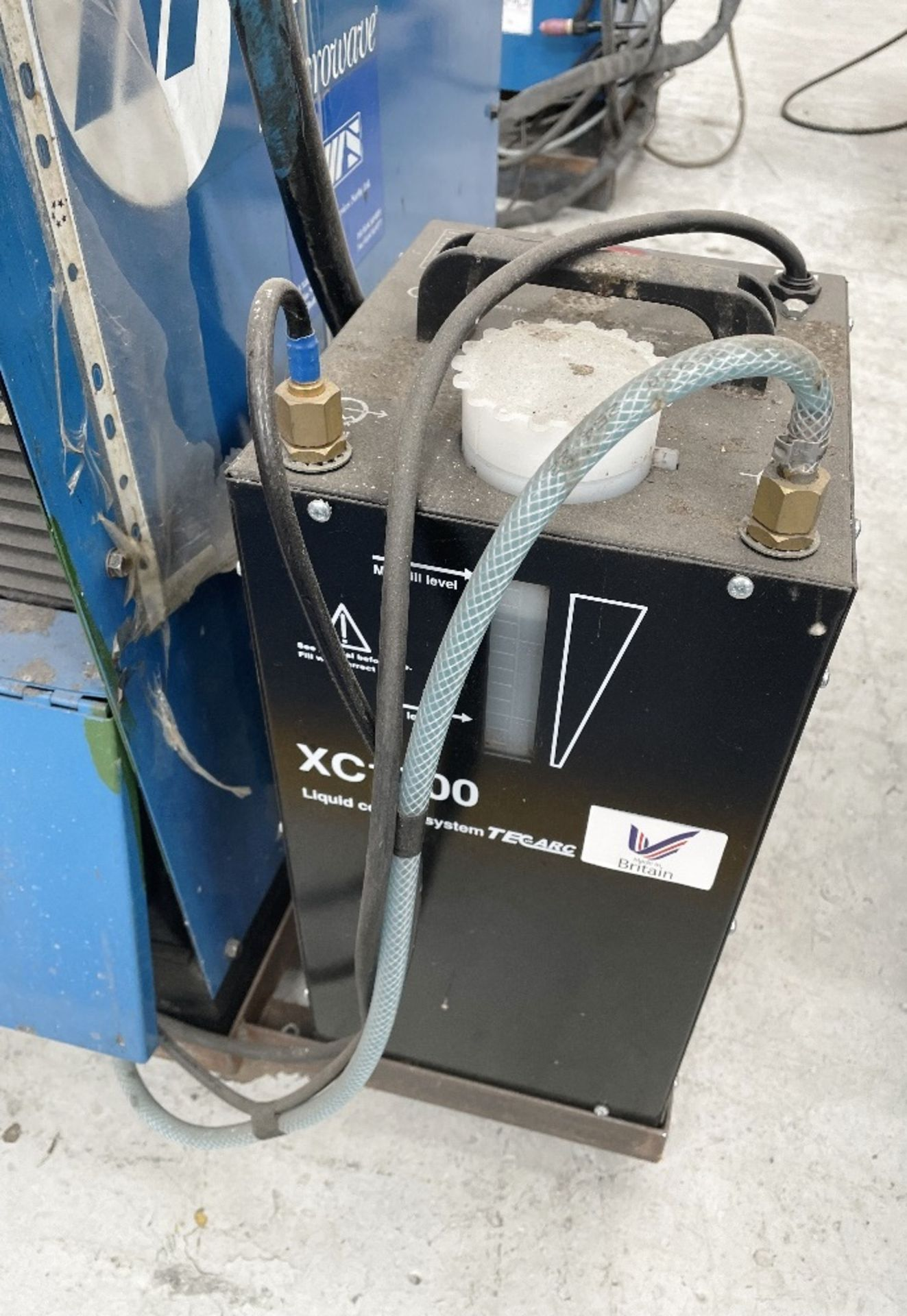 Miller Syncrowave 250 Tig Welder w/ TecArc XC1000 Water Cooler - Image 3 of 6
