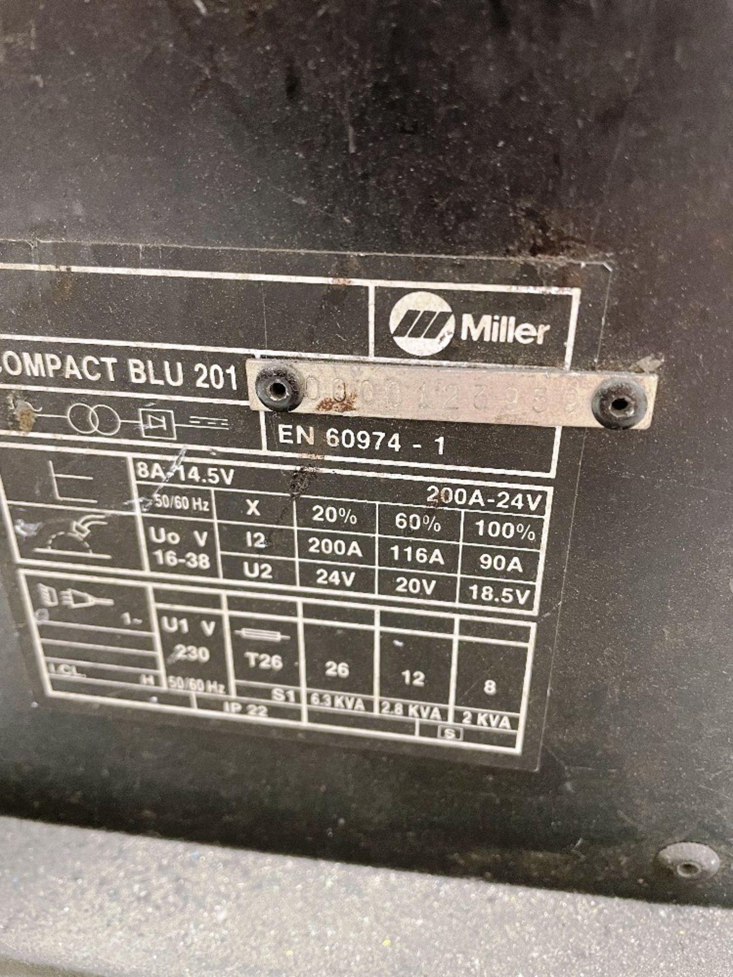 Miller Compact Blu 201 Mig Welder - Image 3 of 3