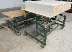 2 x Panelmate Adjustable Mobile Tables