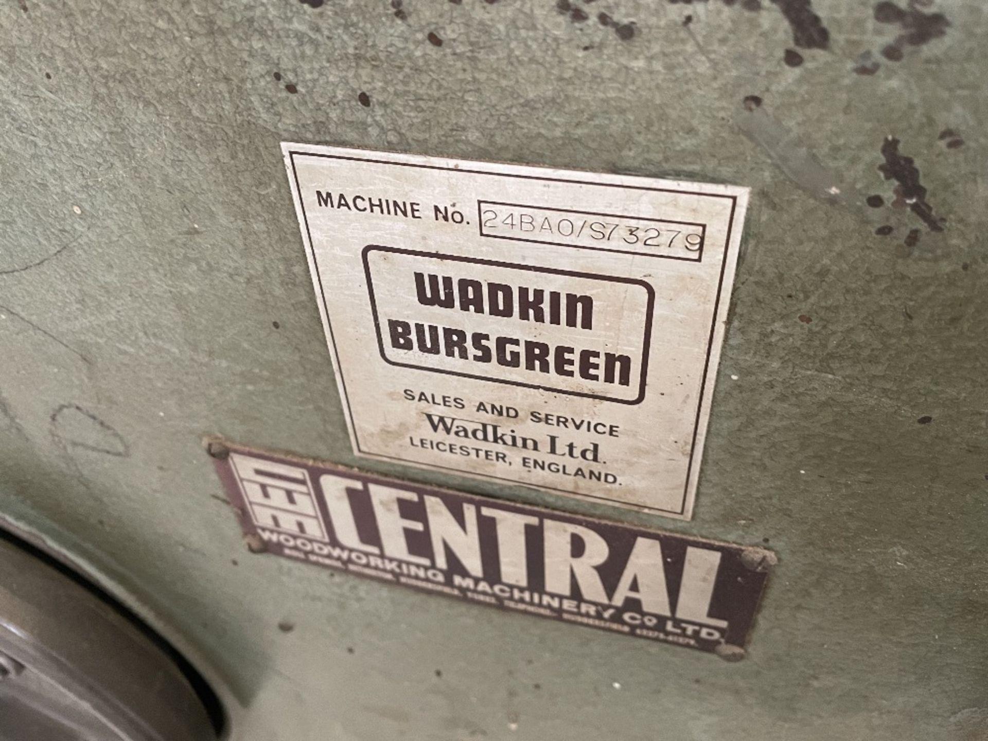 """Wadkin Bursgreen BAO 24"""" Planer Thicknesser - Image 3 of 6"""