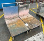 4 x Fabricated Metal Trolleys