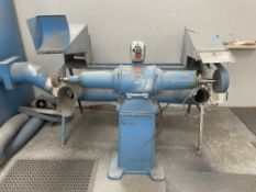 Superior Double Ended Polisher w/ Fabricated Fume Extraction Unit
