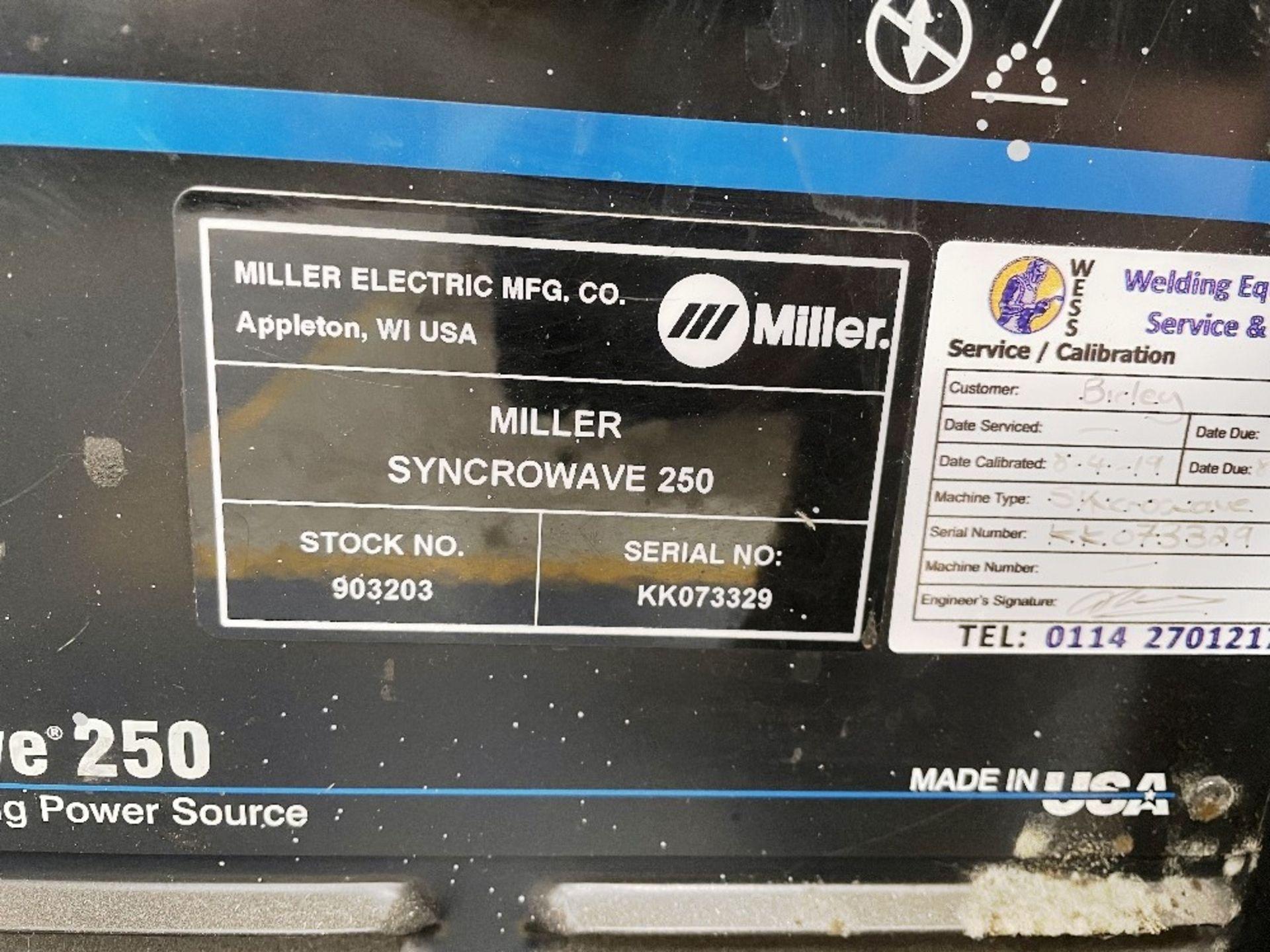 Miller Syncrowave 250 Tig Welder w/ TecArc XC1000 Water Cooler - Image 2 of 6