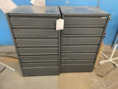 2 x 6 Drawer Lockable Units w/ Contents