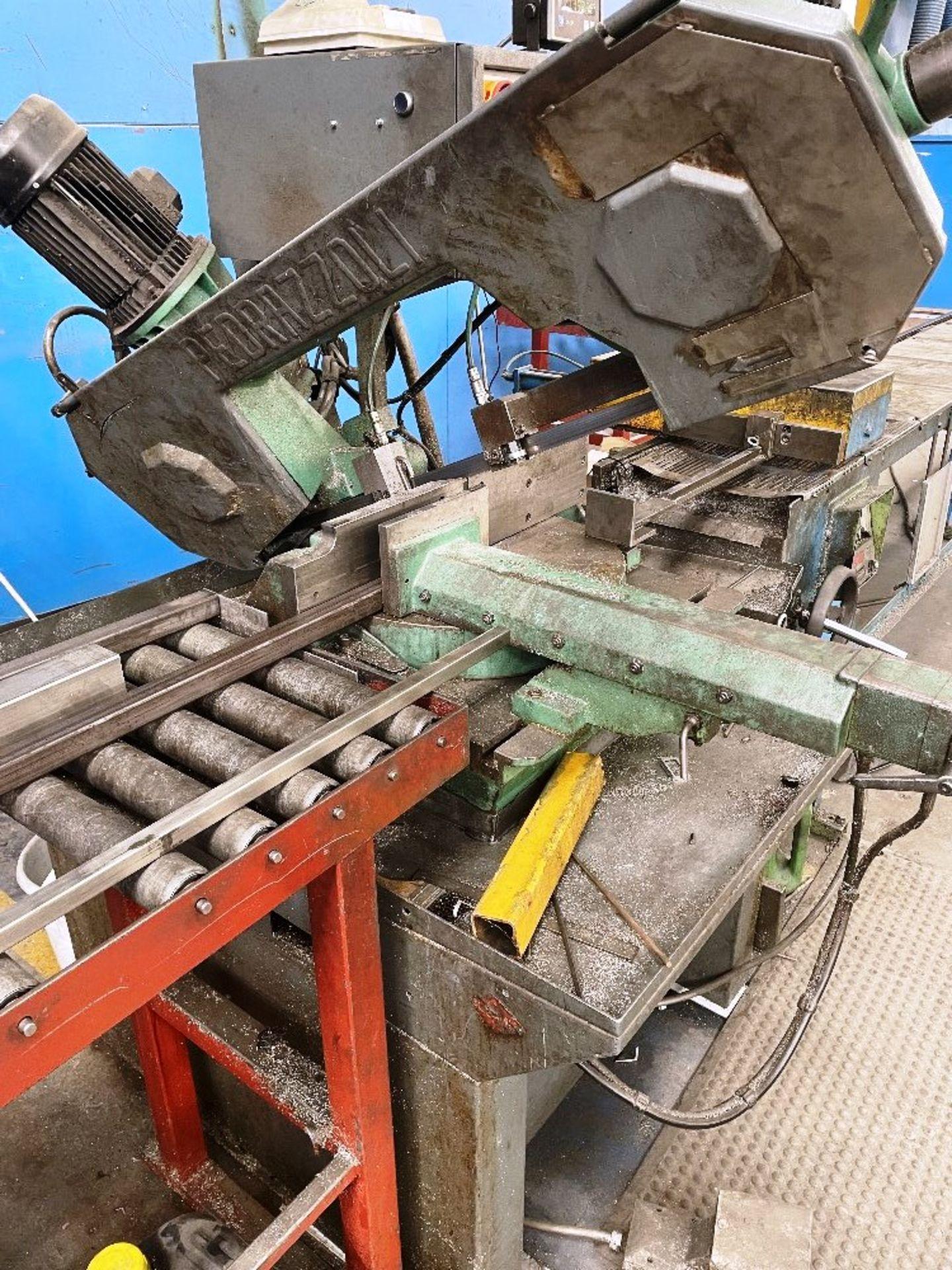 Pedrazzoli Brown SC 300 Horizontal Bandsaw w/ 4m Powered Conveyor - Image 5 of 12