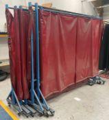 6 x Mobile Welding Screens