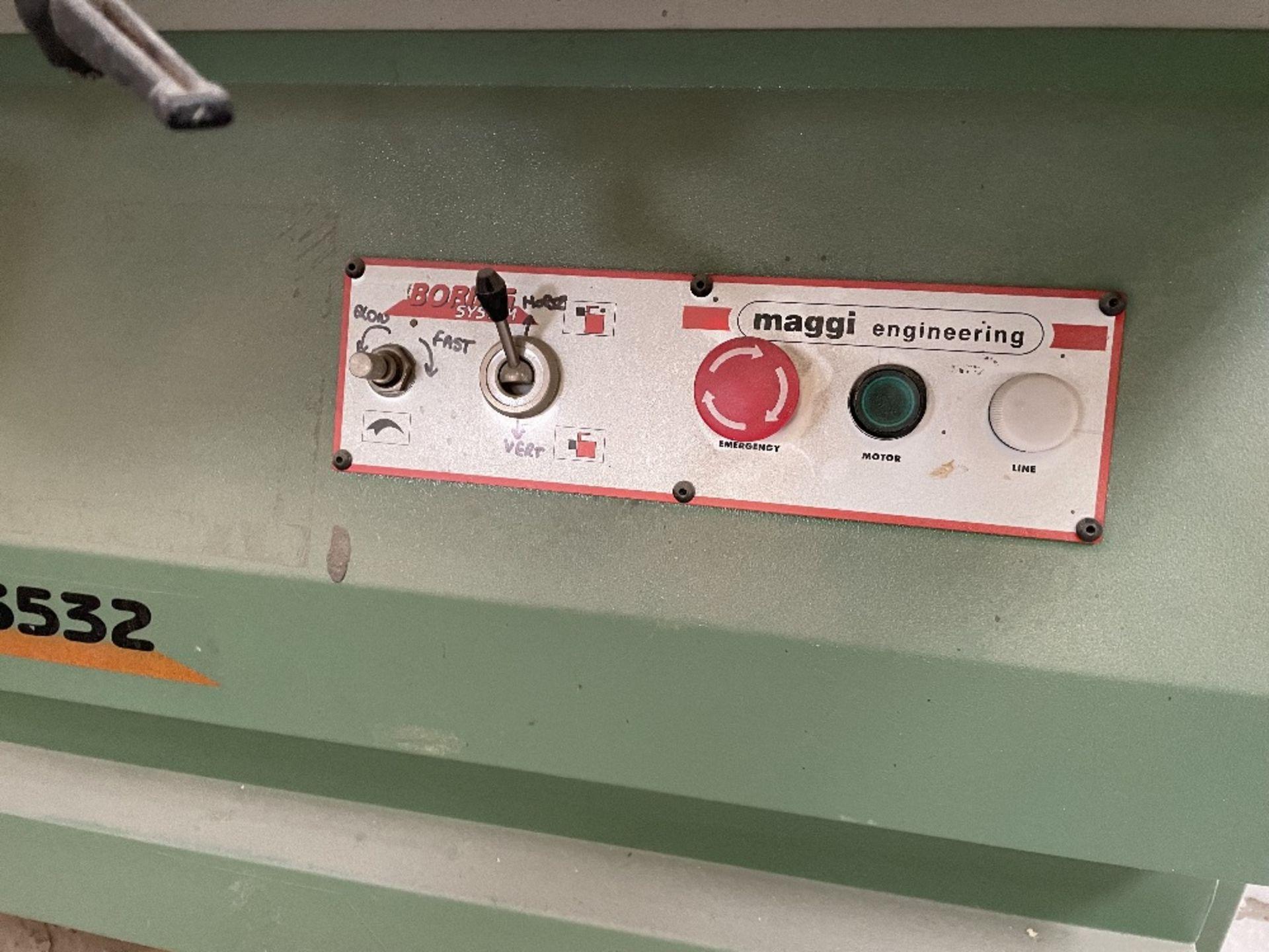 Maggi 3532 4 Head Boring Machine w/ Tool Cabinet & Tooling | YOM: 1999 - Image 4 of 12