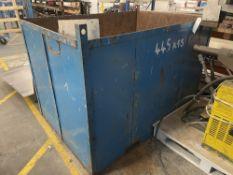 Metal Storage Forklift Bin w/ Scrap - As Pictured   182cm L x 124cm W