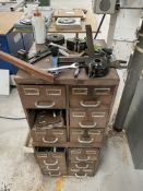 Multi Drawer Unit w/ Woodworking Machinery Tooling | As Pictured