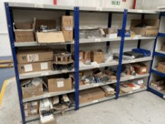3 Bays of Shelving w/ Furniture Fixings & Fittings Stock | As Pictured