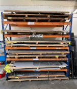 Quantity of Various Metal Sheeting - As Pictured   Racking Included