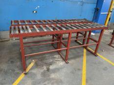 2 x Roller Gravity Conveyors   250cm Length