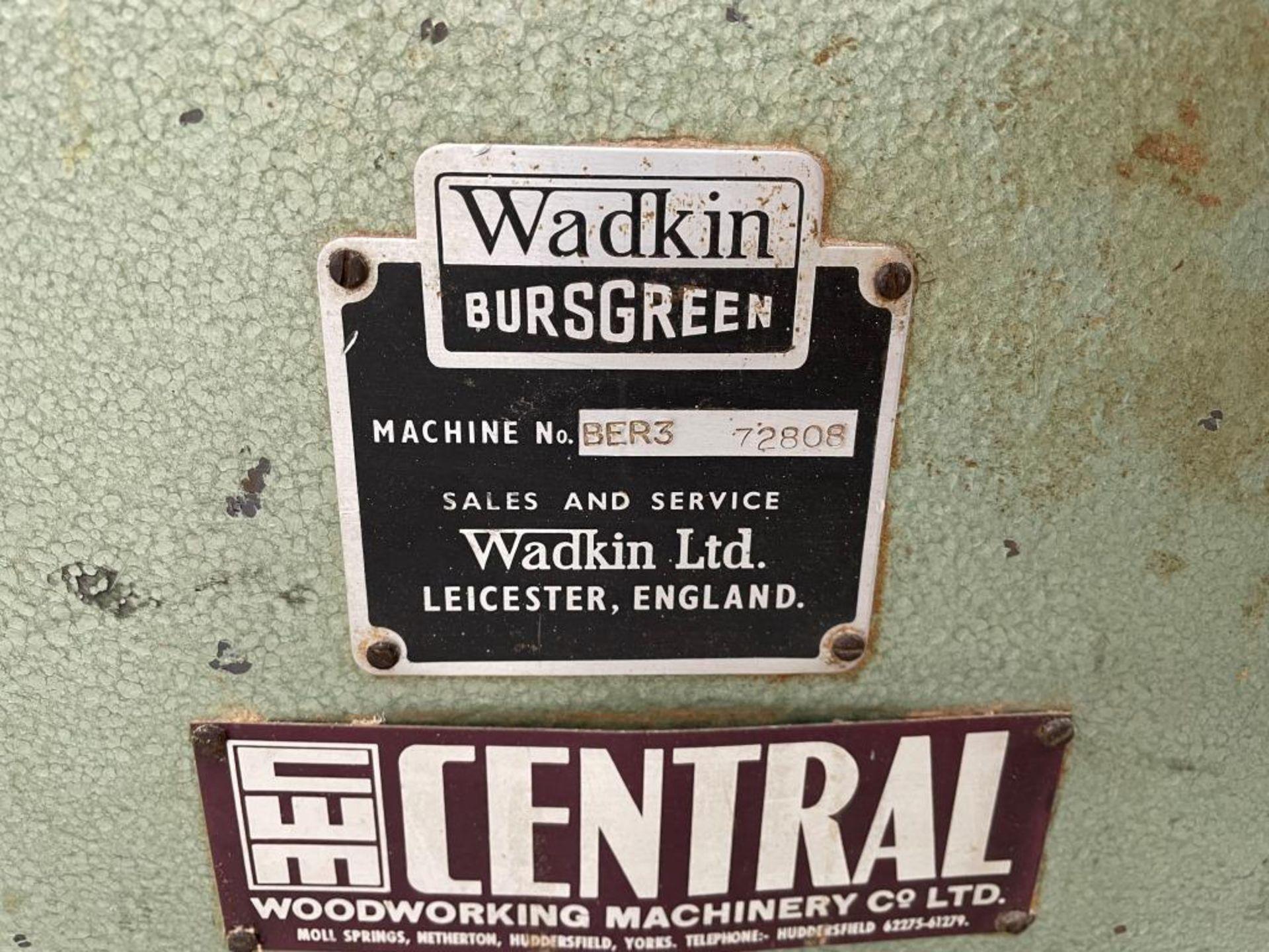 Wadkin Bursgreen BER 3 Spindle Moulder w/ Holz-Her Power Feed - Image 2 of 2