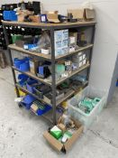 5 Tier Mobile Trolley w/ Fittings Stock   As Pictured