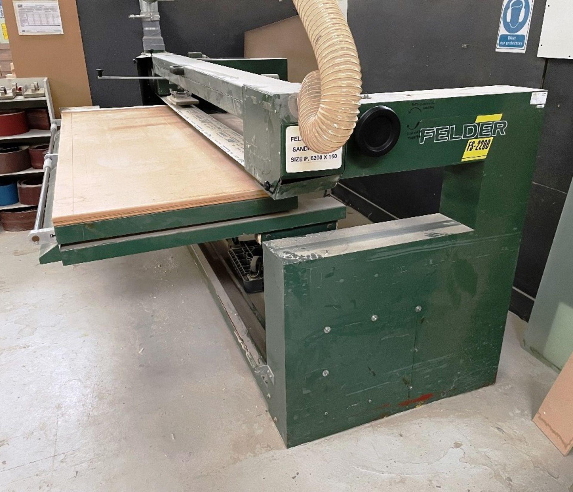 Felder FS 2200 Belt Sander w/ Spare Sanding Belts & Pads - Image 2 of 13