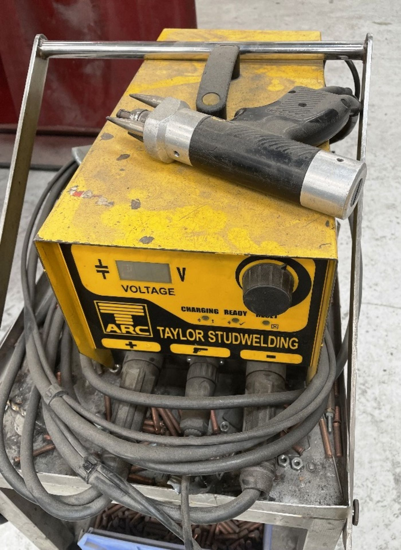 Taylor CDM8 Capacitor Discharge Stud Welding Machine w/ Gun, Studs & Mobile Bench - Image 2 of 5