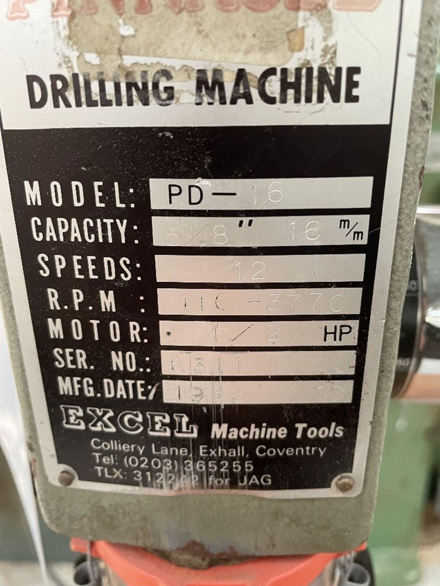 Pinnacle PD16 16mm Pedestal drill   YOM: 1983 - Image 3 of 5
