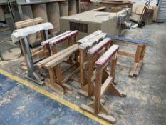 7 x Various Wooden Trestle Stands