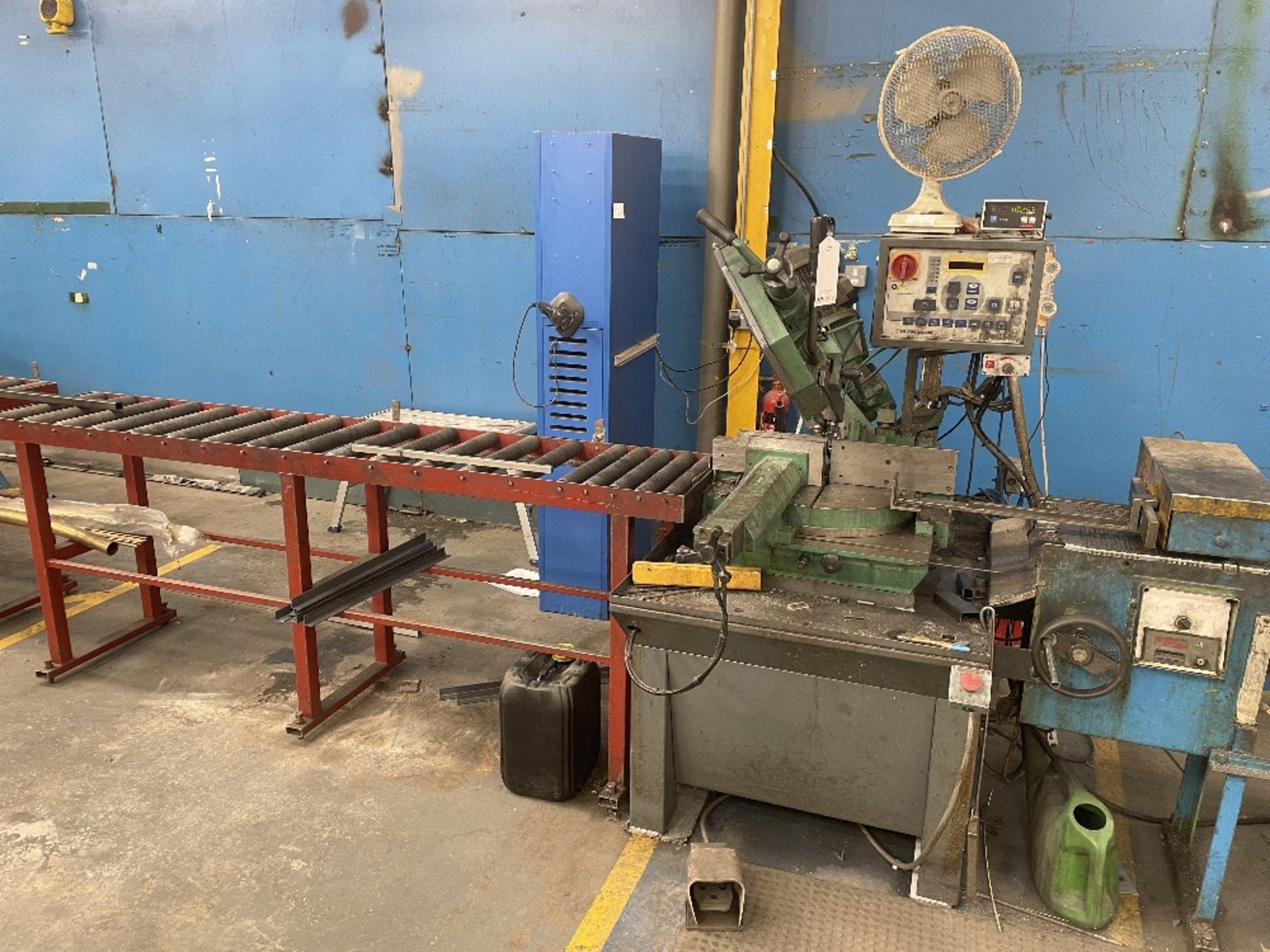 Pedrazzoli Brown SC 300 Horizontal Bandsaw w/ 4m Powered Conveyor - Image 7 of 12