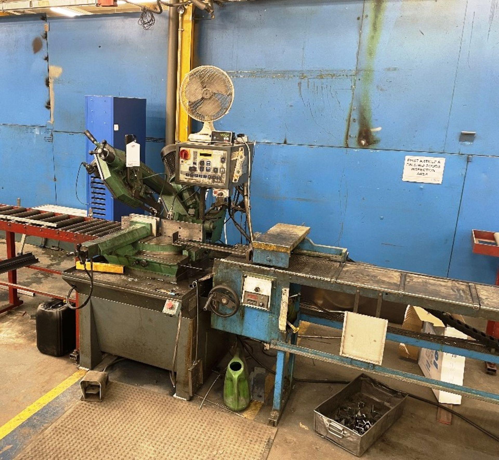 Pedrazzoli Brown SC 300 Horizontal Bandsaw w/ 4m Powered Conveyor - Image 6 of 12