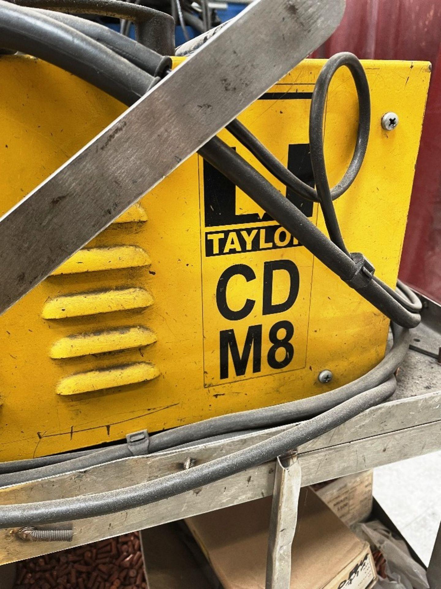 Taylor CDM8 Capacitor Discharge Stud Welding Machine w/ Gun, Studs & Mobile Bench - Image 3 of 5