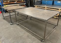 2 x Mobile Fabricated Tables