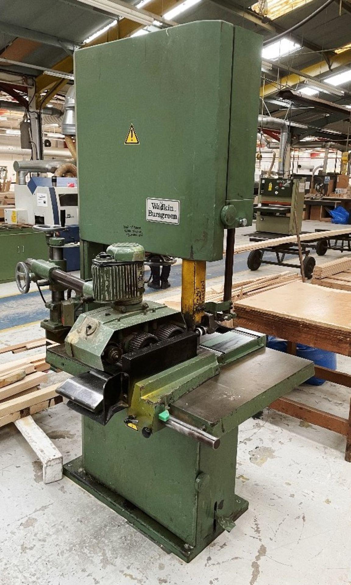 Wadkin Bursgreen Vertical Bandsaw w/ Power Feed