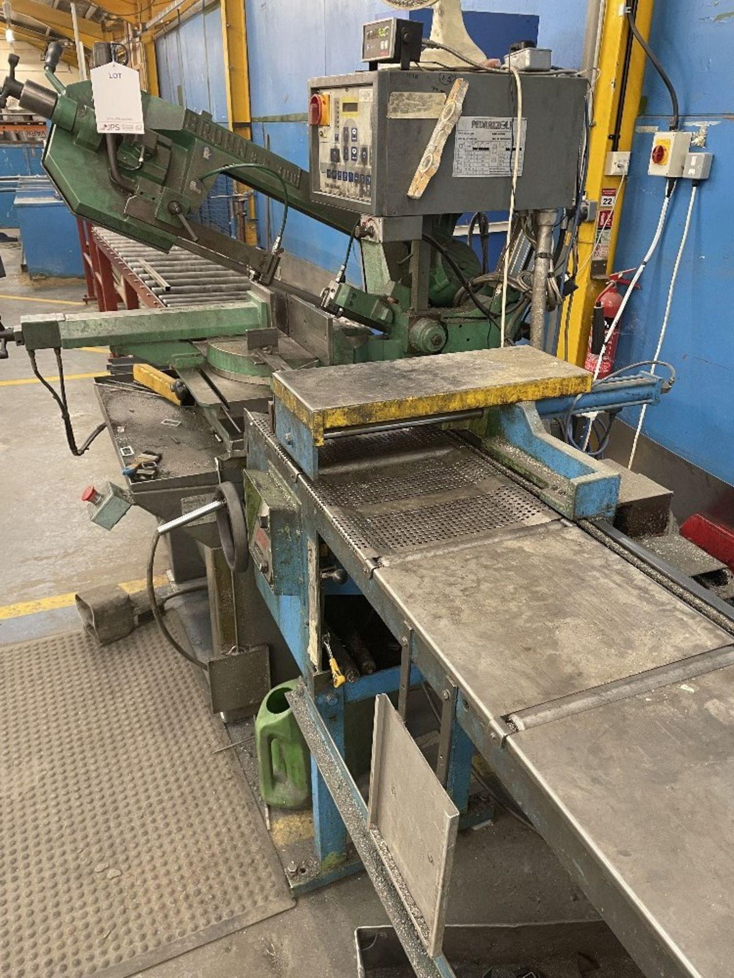 Pedrazzoli Brown SC 300 Horizontal Bandsaw w/ 4m Powered Conveyor - Image 11 of 12
