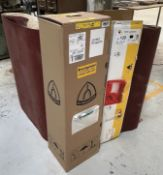 Quantity of 970mm x 1525mm Wide Sanding Belts - As Pictured