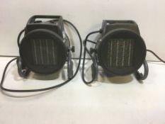 2 x Sealey 200W Industrial Fan Heater   PEH2001