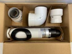 5 x x Baxi Multifit 5118580 Group G Horizontal Flue Kit Incl Adaptors