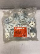 6 x Bags Of Hilti Pipe ring saddles ML-S M8 | Bags Of 25